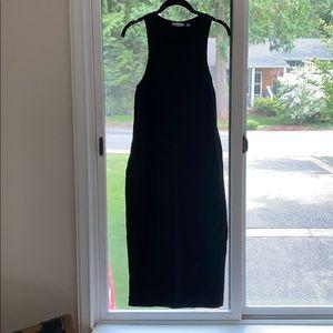Black Midi Dress, fitted